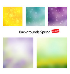 spring backgrounds vector image