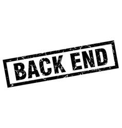 Square grunge black back end stamp vector