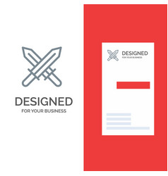 sword ireland swords grey logo design and vector image