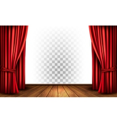 Theater curtains with a transparent background vector image