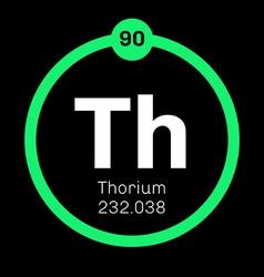 Thorium chemical element vector