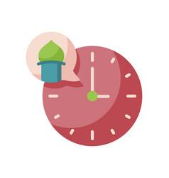 Time callprayer adzan islam single isolated icon vector