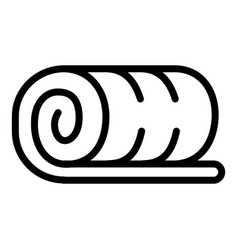 towel roll icon outline style vector image