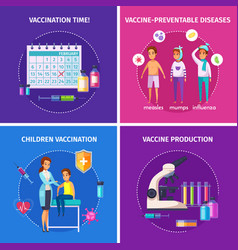 Vaccination immunity design concept vector