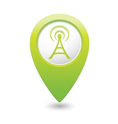 wi fi icon green map pointer vector image