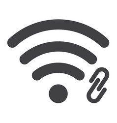 Wifi hotspot glyph icon web and mobile vector