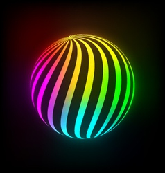 Bright light ball vector image vector image