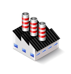 Factory isometric icon isolated on white vector image vector image