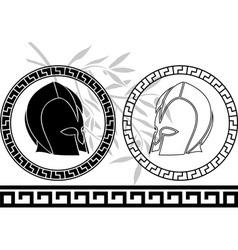 fantasy ancient helmets stencil second variant vector image vector image