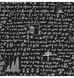 Physical seamless pattern on a blackboard vector image vector image