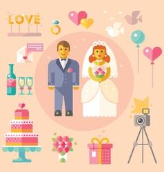 Wedding flat vector image vector image