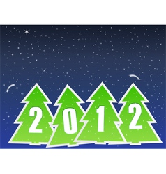2012 christmas trees vector image vector image