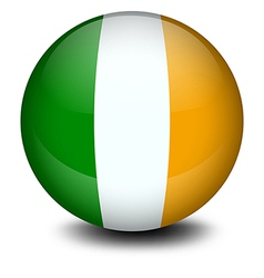 A soccer ball with the flag of Ireland vector image vector image