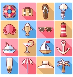 Cruise icons vector image
