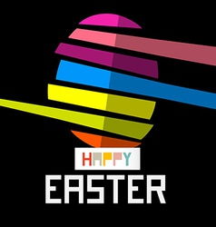 Happy Easter Egg on Black Background vector image vector image