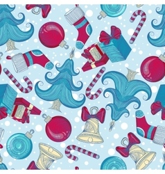 Pattern with Christmas elements vector image vector image