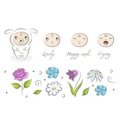 baby sheep vector image vector image