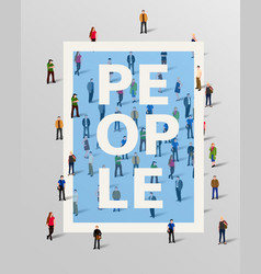 group of people border design elements vector image vector image