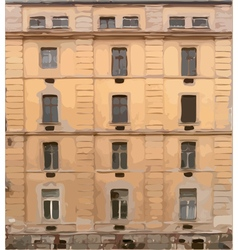 Old four storey house texture vector image vector image