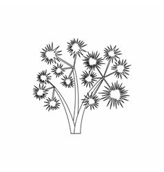 Three spiky palm trees icon outline style vector