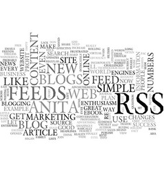 why should i use blogs and rss feeds text word vector image vector image