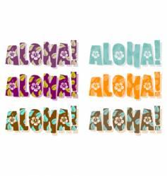 aloha word vector image vector image