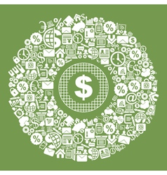 Business Dollar vector image