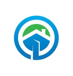 circle home building logo image vector image