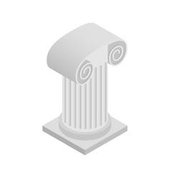 Roman column icon isometric 3d style vector image
