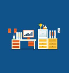 Work success finance financial growth chart vector