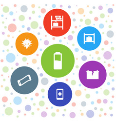 7 cell icons vector