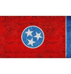Abstract Mosaic flag of Tennessee vector