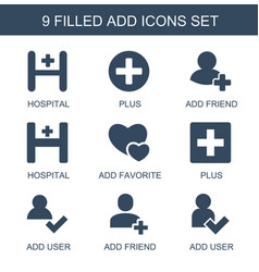 Add icons vector