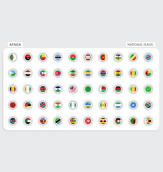 Africa national flags vector