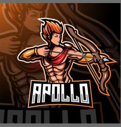 apolo esport mascot logo design vector image