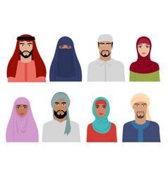 arab national clothes islamic iranian turkish vector image