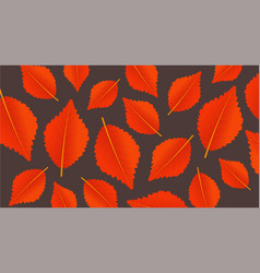 autumn orange background with leaves modern vector image