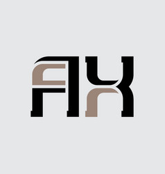 Ax - initials or logo a and x - icon or logotype vector