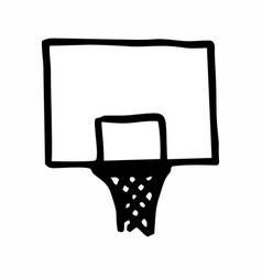 basketball table vector image