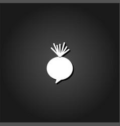 beet icon flat vector image