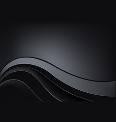 Black metallic background vector
