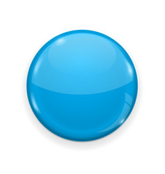 blue web button isolated on white background vector image