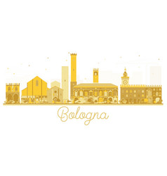 bologna italy city skyline golden silhouette vector image