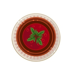 Borscht in a Bowl Served Food vector