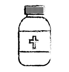 bottle medicine isolated icon vector image