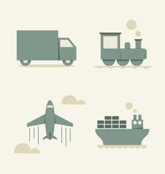 cargo transportation vector image