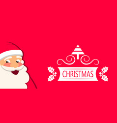 cheerful santa claus christmas greeting card vector image