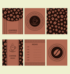 Coffee set in tribal african style for bar vector