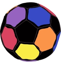 Color futboll ball vector