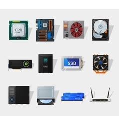 Computer hardware flat icon vector image